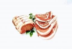 côtes et rôtie de porc