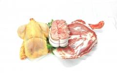poulet, rôti de veau cocotte, épaule d'agneau