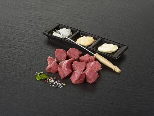 Viande à fondue (prête à déguster)